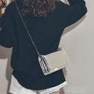 上新小包包女新款時尚鏡面少女小背包CHIC簡約質感斜背錬條包 新年特惠
