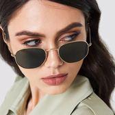 現貨-歐美墨鏡韓版新款優雅太陽眼鏡圓臉復古網紅男女明星款個性女潮 96