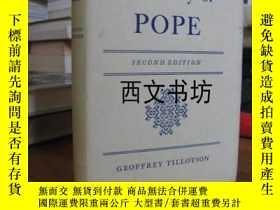 二手書博民逛書店【罕見】1962年《On the Poetry of POPE》