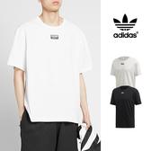 【GT】Adidas Originals 黑白 短袖T恤 純棉 運動 休閒 素色 上衣 短T 愛迪達 三葉草 Logo
