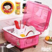 廚房帶蓋瀝水籃塑料碗碟架特大號碗櫃雙層碗盆碗筷收納碗架放碗盆 全館8折