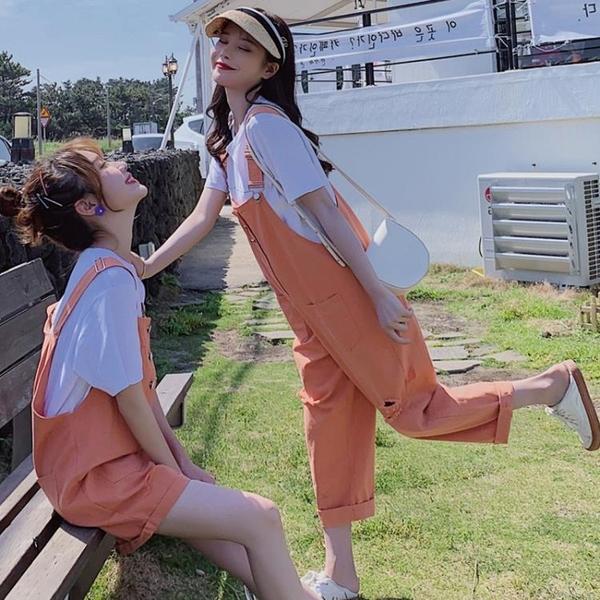 吊帶褲 網紅牛仔吊帶褲女韓版寬鬆減齡學生春裝2021年夏季可愛顯瘦百搭潮