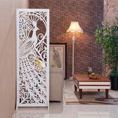 屏風 隔斷玄關折屏時尚客廳折疊辦公司酒店簡約現代雕花歐式RM