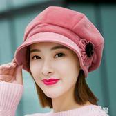 貝雷帽毛呢帽子女秋冬天韓版針織毛線帽八角帽英倫 zm7675『男人範』