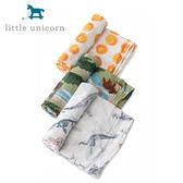【愛吾兒】美國 Little Unicorn 純棉紗布巾三入組 經典侏儸紀