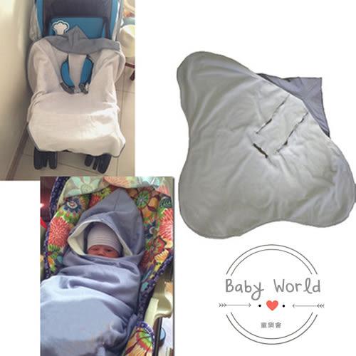 睡袋 嬰兒推車 專用保暖睡袋 安全帶空縫設計 毯子 BW