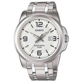 【CASIO】 專業時尚紳士腕錶-白面(MTP-1314D-7A)