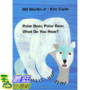 [ 美國直購 2016 暢銷書] Polar Bear, Polar Bear, What Do You Hear? (Brown Bear and Friends) Board book