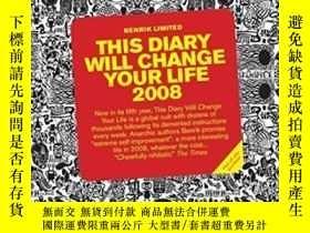 二手書博民逛書店This罕見Diary Will Change Your Life 2008Y256260 Benrik Lt
