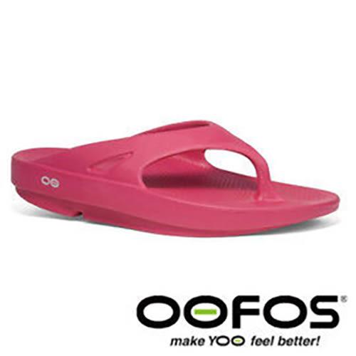 美國 OOFOS OOriginal 女舒壓 夾腳拖鞋 FUC桃紅 人字拖 拖鞋 紓壓鞋 W1000