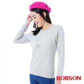 BOBSON    女款手縫鑽飾上衣(35122-82)