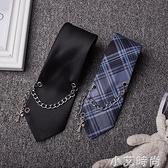 網紅ins超火復古街頭原宿JK學院風襯衫飾品西式格子男女情侶領帶 小艾新品