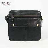 牛皮/斜背包【CALTAN】輕便俐落款斜背包-5270bk