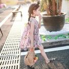 女童連身裙兒童沙灘裙子純棉中大童洋氣韓版公主裙
