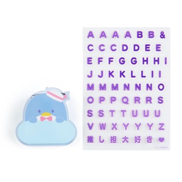 小禮堂 山姆企鵝 造型壓克力名牌徽章 附貼紙 名牌胸章 姓名牌 胸牌 (藍 2021角色大賞) 4550337-61161