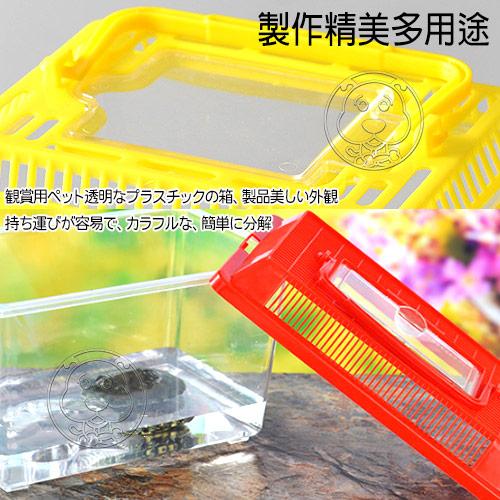 【培菓平價寵物網 】dyy》水族箱小動物甲蟲昆蟲魚缸飼養盒外出盒S號15*9.5*11CM