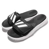 adidas 運動拖鞋 Alphabounce Slide 黑 白 男鞋 舒適 回彈中底 涼拖鞋【PUMP306】 BA8775