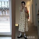長裙法式復古寬鬆短袖洋裝女裝夏季氣質碎花裙長裙顯瘦裙子