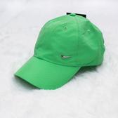 【現貨】NIKE Swoosh Cap 復古 老帽 銀勾 金屬 立體 LOGO 淺綠 彎帽 運動 休閒 遮陽 帽子 340225-351