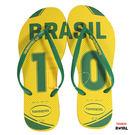 Havaianas 哈瓦士 新竹皇家 世足-巴西 細帶 黃色 拖鞋 女款 NO.H2066