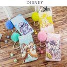 Disney迪士尼iPhone 7/8 Plus經典毛球彩繪皮套