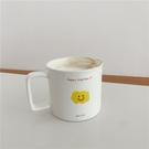 馬克杯 阿寶-自制韓國ins可愛卡通笑臉馬克杯學生大容量辦公室早餐燕麥杯 晶彩
