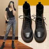 馬丁靴系列 馬丁靴女鞋子英倫風2020年新款加絨瘦瘦短靴百搭秋季秋冬季襪靴子 快意購物網