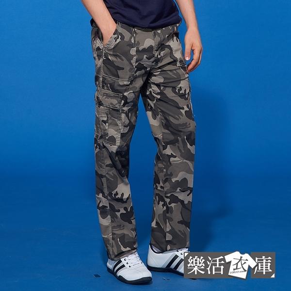 【7358】夏日薄款迷彩伸縮休閒工作長褲(綠灰)● 樂活衣庫