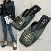 包頭半拖鞋女新款百搭平底時尚穆勒女鞋半托單鞋網紅爆款拖鞋 依凡卡時尚