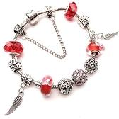 手鍊 串珠-水晶琉璃鑲鑽羽翼生日情人節禮物女飾品3色73bo74【時尚巴黎】