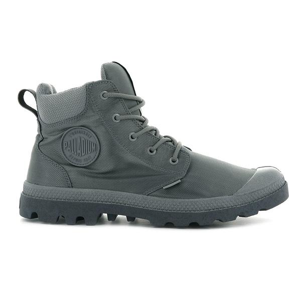 PALLADIUM PAMPA CUFF RECYCLE WP+ 男鞋 男女款 灰色 防水 輕量 雨鞋 環保 高筒靴 06654011