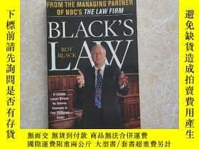 二手書博民逛書店Black's罕見Law: A Criminal Lawyer Reveals His...Y159