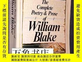二手書博民逛書店William罕見Blake : Complete Poetry and Prose of William Bla