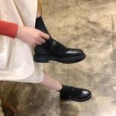 英倫學院風新款洛麗塔學生小皮鞋瑪麗珍可愛黑色圓頭豆豆鞋女 千千女鞋
