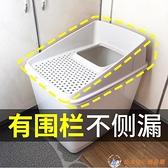 貓砂盆頂入式全封閉超大防外濺上入式大號貓咪廁所除臭【公主日記】