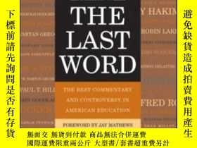 二手書博民逛書店The罕見Last WordY256260 Education Week John Wiley & S