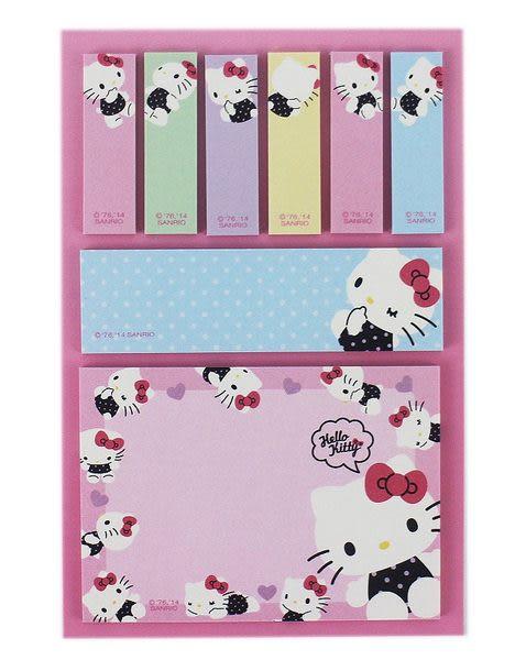 【卡漫城】Hello Kitty 便利貼 ㊣版 便條紙 自黏紙 隨意貼 Memo 日本製造 N次貼