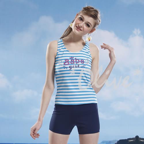☆小薇的店☆泳之美品牌【亮眼英文條紋】時尚二件式泳裝特價690元 NO.8326(S-XL)