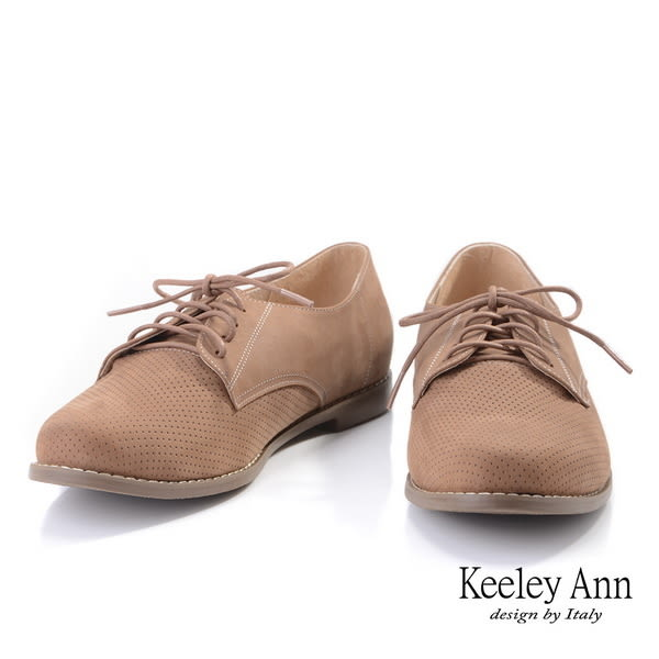 ★2019秋冬★Keeley Ann極簡魅力 素面透氣柔軟牛津鞋(棕色)