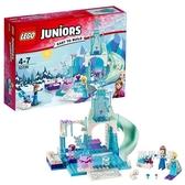 積木小拼砌師10736安娜和艾莎的冰雪樂園積木玩具xw