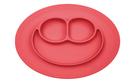 美國 EZPZ HAPPY MAT MINI 迷你餐盤/餐具/安全/無毒/矽膠 珊瑚紅