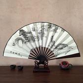 10寸中國古典手工折疊絹布竹扇子男式復古風日常隨身相聲演出道具 js5449『miss洛羽』