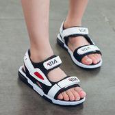 兒童涼鞋童鞋男童2018新款韓版夏季老爹韓版中大童防滑男孩沙灘鞋