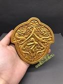 古玩收藏 黃銅令牌 大明令牌 兵符 虎符掛件 雙