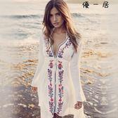 海邊度假沙灘外套衣服比基尼罩衫