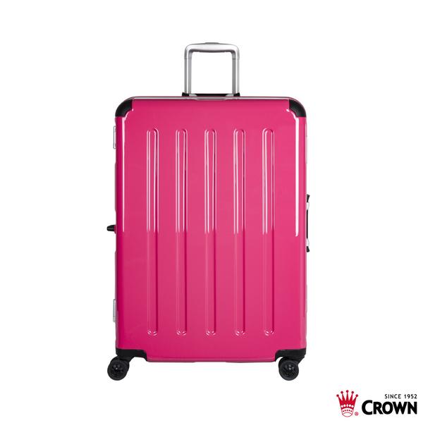 CROWN皇冠  MAX CAPACITY 新版護角設計 行李箱/旅行箱27吋-桃紅色 CFH509