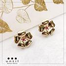 秘密花園~立體花朵鑽石耳環712411