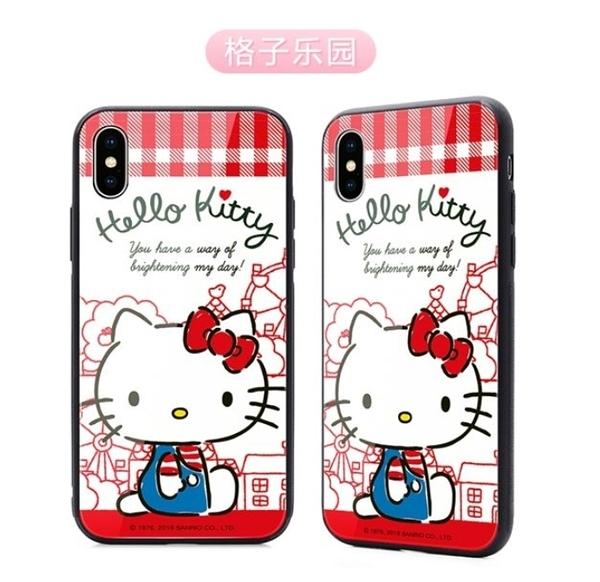 King*Shop~HelloKitty美樂蒂三星S10鋼化玻璃手機殼雙子星S10+ PLUS 防摔保護套A8S G887F