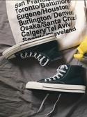 帆布鞋 情侶款簡約帆布鞋高幫秋季青年男女休閒潮流鞋子