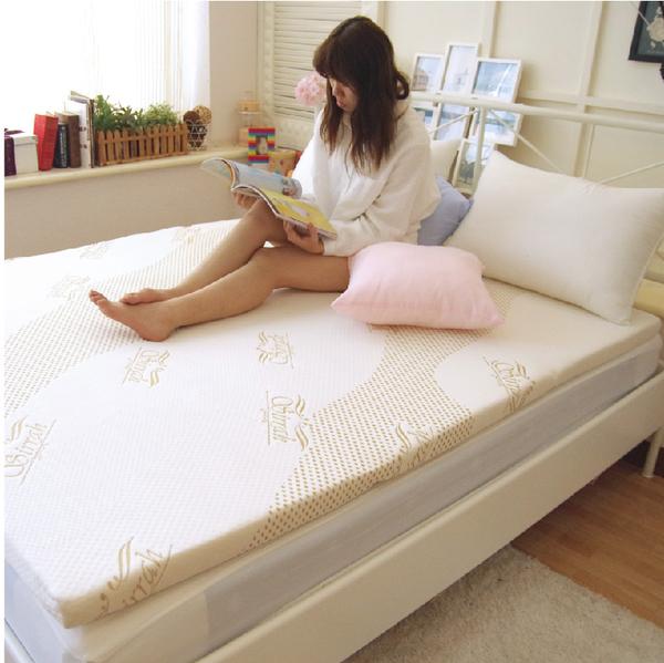 天絲舒柔床墊 【6x6.2 加大雙人床墊】白/灰、可水洗、防螨抗菌、高支撐透氣內墊、折疊式